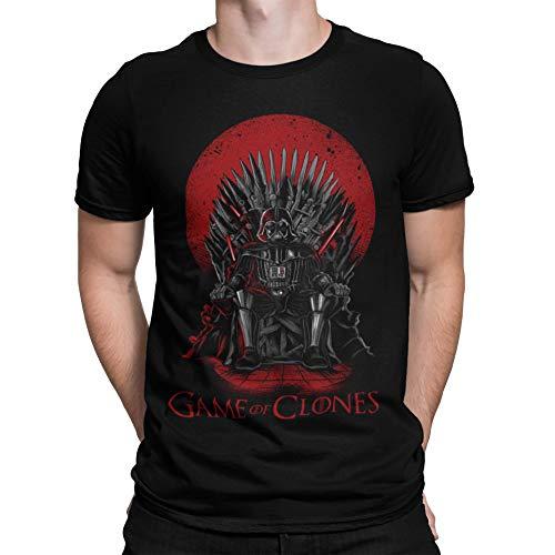 Camiseta Star Wars - Game of Thrones - Game of Clones Negro L