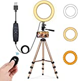 8' Selfie Ring Light with 50' Extendable Tripod Stand & Cell Phone Holder for Live Stream/Makeup,...