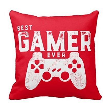 """Popular presenta 18""""x 18"""" mejor Gamer nunca para videojuegos Geek manta decorativa Funda de almohada Funda de cojín"""
