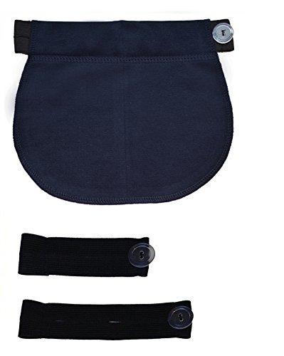 Set di 3: Fascia elastica REGOLABILE cintura Premaman gravidanza 1028 (Blu)