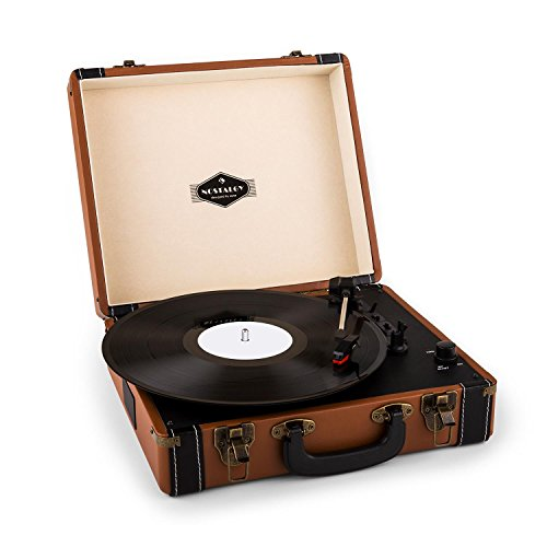 Auna Jerry Lee - Giradischi, Lettore di Dischi, unit a Cinghia, Altoparlanti Stereo, USB, 3 velocit,...