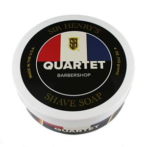 Luxury Shaving Soap by Sir Henry's. Rich Lather Gives a Smooth Comfortable Shave. (Quartet)
