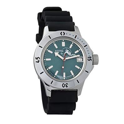 Vostok Amphibian Automatic Self-Winding Russian Military Wristwatch #120059 (bluedots)