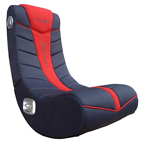 Ace Casual, 5149101, Extreme III 2.0 Gaming Rocker Chair with Audio System, 26 x 17.5 x 17, Black/Red