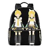 XCNGG Anime Kagamine Twins Mochila Escolar clásica para Estudiantes Ciclismo Escolar Ocio Viajes Camping Mochila al Aire Libre