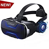 VR Headset,Virtual Reality Headset, VR SHINECON 3D VR Glasses for Movies, Video,Games - Virtual Reality Glasses VR Goggles for iPhone, Android and Other Phones Within 4.7-6.2 inch