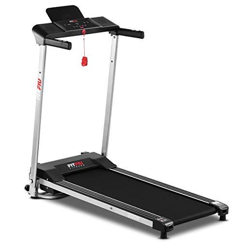 FITFIU Fitness MC-160 Tapis Roulant Pieghevole Ultracompatto, Velocit Fino A 10Km/H e Superficie di Corsa di 36X100Cm, Macchina Fitness da 1200W, 12 Programmi di Allenamento e Cardiofrequenzimetro