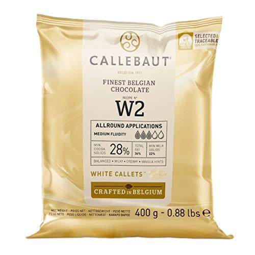 Chocolate blanco en gotas Callebaut 28% bolsa de 400 gramos