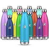 KollyKolla Bottiglia Acqua in Acciaio Inox,Senza BPA Borracce Vuoto Isolato Borraccia Termica 500ml Senza Perdite in Metallo,per Bambini, Scuola,Sport,Palestra
