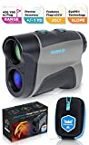 CreativeXP Golf Rangefinder 1100 Yards - Range Finder for Hunting and Archery, 6X Digital Rangefinders with Slope Mode, Pro Flag-Lock and Angle Compensation – Case Holder & Hand Strap - Color Grey