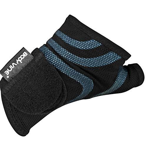 Triple Compression 3D Cut Comfort Wrist Support Plus, 3-Lagen 3D Komfort Kompressions Handgelenk Bandage mit Power-Band Compression Taping, blaues Tape
