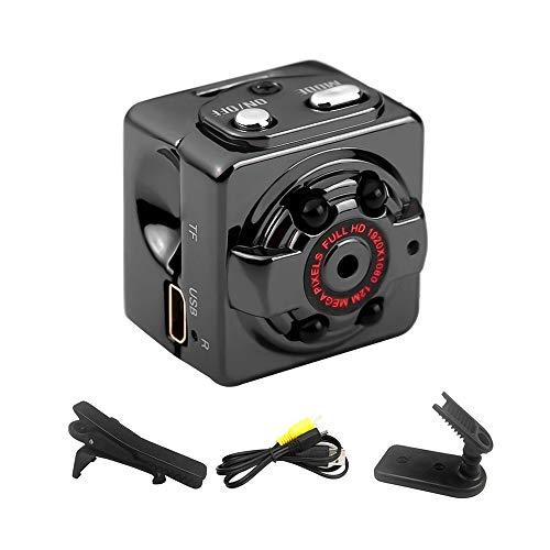 Andoer Mini telecamera nascosta 960 p 2 MP Full HD videocamere di sorveglianza portatile con rilevamento di movimento visione notturna interno/esterno per casa auto drone ufficio colore nero