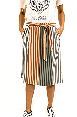 ✅WARDROBE STAPLE - Every wardrobe needs a simple stripe skirt! This one is the missing piece to your puzzle. ✅SIMPLE DETAILS - With a tie waist and hip pockets, this stripe skirt is more than it seems! Perfect for any occasion and event! ✅VERSATILE -...