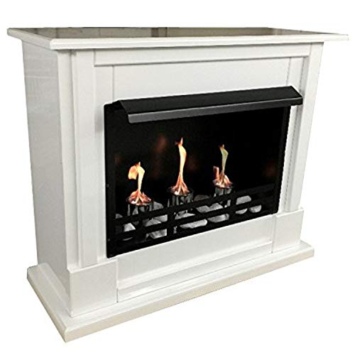 Bio Ethanol Firegel Fireplace Fire Place Model Nizza White