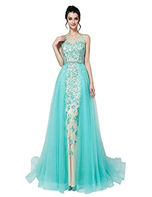 About the size, please check the left our size chart, please kindly note all size information are based on body measurement Soft Tulle and Applique Material/Beaded Sheer Neck Sexy Mermiad /Floor Length /Zipper Back Evening Prom Gowns The Expedited Wa...