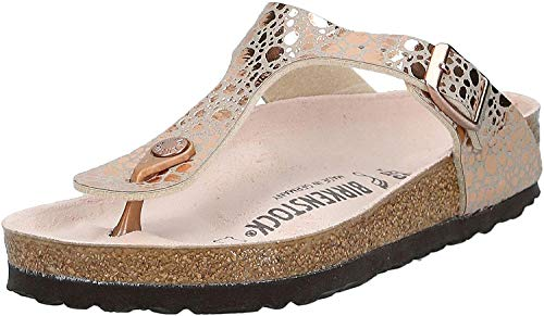 Birkenstock Gizeh BS Infradito Donna, Marrone (Metallic Stones Copper Metallic Stones Copper), 38 EU