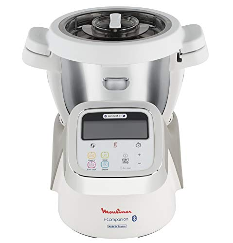 Moulinex i-Companion Robot Cuiseur Multifonction Connecté, 4 Programmes Automatiques, 4 Accessoires Inclus, Capacité jusqu'à 6 Personnes, 1 Million de Menus HF900110