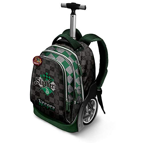 Harry Potter Quidditch Slytherin-GT Travel Trolley-Rucksack Zaino Casual, 42 liters, Verde