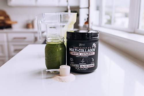 Premium Collagen Peptides Powder (1, 2, 3, 5 & 10) Multi Collagen Protein + Vitamin C + Biotin + Hyaluronic Acid - #1 Collagen Powder for Women Hair Skin and Nails - Marine, Bovine, Chicken & Eggshell 5