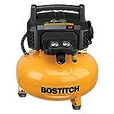 BOSTITCH Pancake Air Compressor, Oil-Free, 6 Gallon, 150 PSI (BTFP02012)
