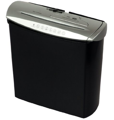 Genie 245 CD Destructeur de documents - 8 feuilles - coupe droite / bandes - avec destructeur de CD - Argent / Noir