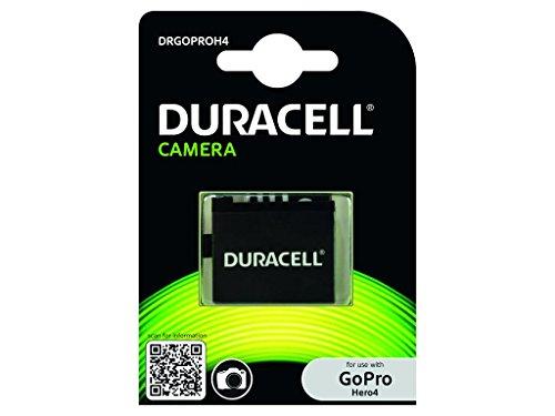 Duracell DRGOPROH4 Batteria per GoPro Hero4 AHDBT-401, Nero