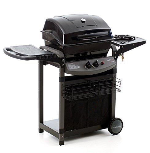 Sochef Pisaporillo Barbecue, Sistema di Cottura a Pietra Lavica, Nero, 52x122x103 cm