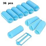 36 Pieces Foam Sponge Hair Rollers Flexible Hair Styling Curlers Sponge Curlers for Hair Styling (Blue)