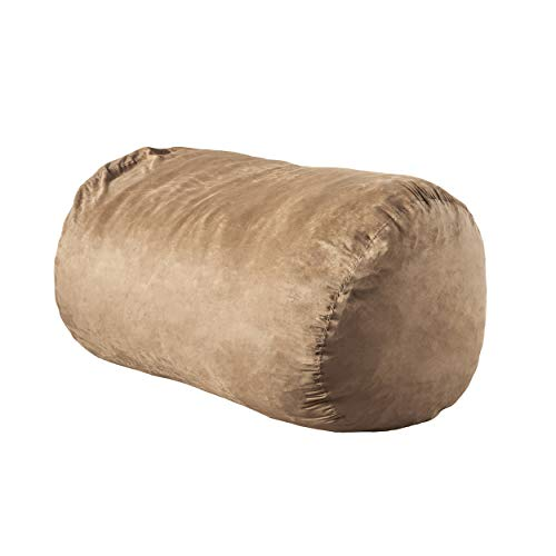 Christopher Knight Home Haley Tuscany Tan 6 Ft Fax Suede Microfiber Bean Bag