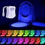 Lampe de Toilette Veilleuse LED Détecteur de Mouvement Éclairage pour WC/Cuvette...
