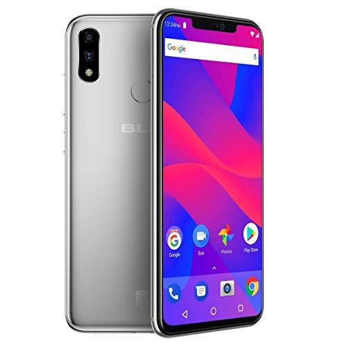Smartphone Blu V XI+ Dual Chip 4G Android 8.1 Tela 6.2' Octa-Core 2GHz 64GB Câmera Dupla 16MP Face ID - Prata