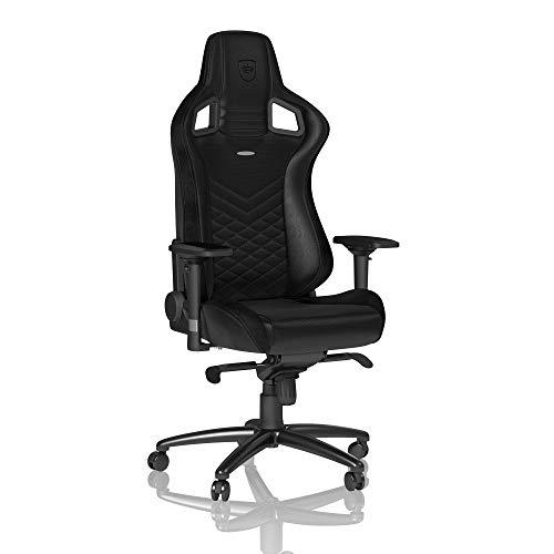 noblechairs Epic Chaise de Gaming - Chaise de Bureau (Noir, Cuir Synthétique PU)