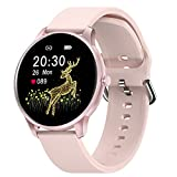 CUBOT Smartwatch Damen, Fitnessuhr, 1.3 Zoll Touchscreen, IP68 Wasserdicht Fitness Tracker, Pulsuhr, Schrittzähler, mit Schlafmonitor, für Android/iOS, Rosa