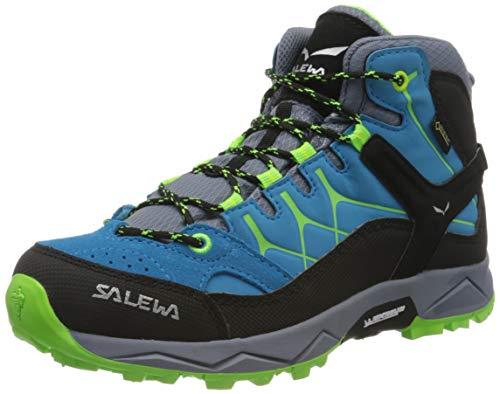 Salewa JR Alp Trainer Mid Gore-TEX Trekking- & Wanderstiefel, Blue Danube/Fluo...