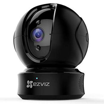 EZVIZ CTQ6C Caméra Surveillance WiFi Intérieure 360°, Caméra IP sans Fil Pan/Tilt Compatible avec Alexa, Caméra Bébé avec Mode Privé, 10m Vision Nocturne, Suivi de Mouvement, Audio Bidirectionnel