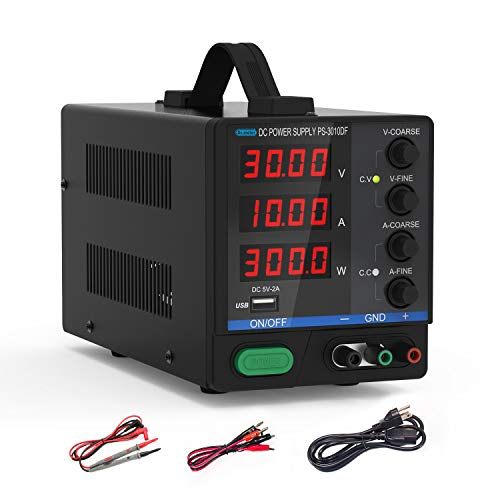 DC Bench Power Supply, 30V/10A Dr.meter Variable...