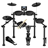 Souidmy Electric Drum Set, 8 Piece All Mesh Electronic Drum Kit with Dual Zone Pad/Cymbals, MIDI Support Lesson APP and Games, Reinforced Steel Frame, 20 Preset Drum Sources, 42 Play-Along Tracks