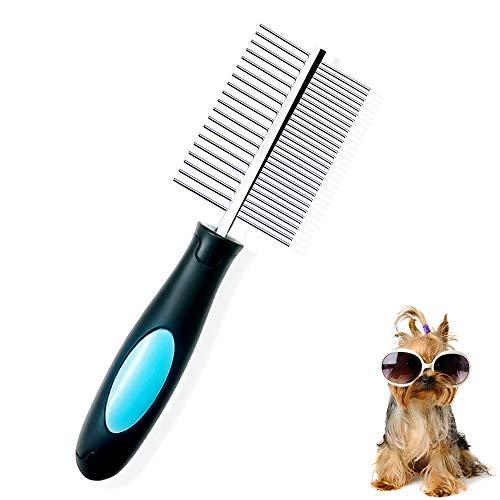 Peine Perro, Peine Profesionalde Doble Cara para Mascota Gran...