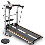4-in-1 Mini Mechanical Treadmill, with Mechanical Treadmill, Sit-ups Pannel, T-wisting Machine,...