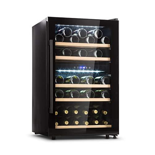 KLARSTEIN Barossa 40D Cantinetta Vino - Frigorifero Vino con Porta in Vetro, 2 Zone, 135 L, 85 W, 41...