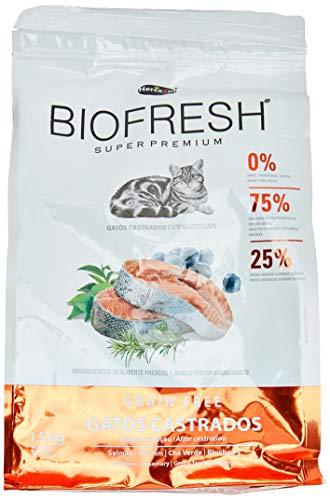 Ração Hercosul Biofresh para Gatos Castrados, Sabor Salmão, Frutas e Vegetais, 1,5kg