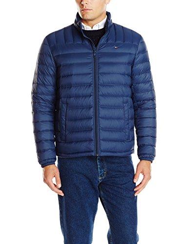 Tommy Hilfiger Men's Lightweight Water Resistant Packable Down Puffer Jacket (Regular and Big & Tall), Deep Navy, Large