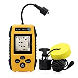 RICANK Portable Fish Finder, Contour Readout Handheld Fishfinder Depth readout 3ft(1m) to 328ft...