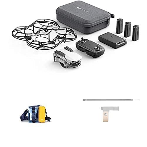 DJI Mavic Mini Combo Drone Leggero e Portatile, Batteria 30 Minuti, Distanza 2 Km, Gimbal 3 Assi, 12 MP, Video HD 2.7K + Bag Borsa per Trasporto Drone Mavic Mini e Accessori + Part 22 ProFinta Peller