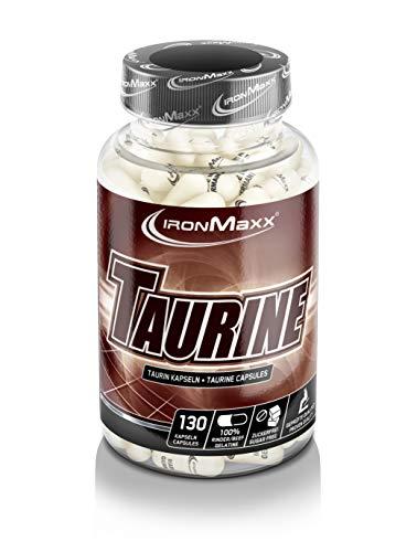 IronMaxx Taurin Kapseln Pre Workout Booster – Unterstützt Muskelaufbau, Muskelerhalt & liefert Energie – 1 x 130 Kapseln