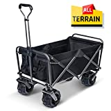 TOOCA Beach Wagon Collapsible Wagon Folding Utility Wagon Cart Outdoor with Wide All Terrain Wheels 265 Pound Capacity for Outdoor, Beach, Camping, Sports, Shopping, Gardening, Picnic