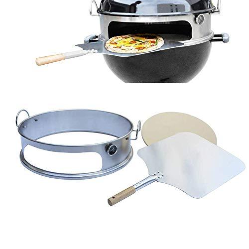 Onlyfire BRK-6023 Acciaio inossidabile pizza forno pacchetto completo PizzaRing per Weber 57cm Grill...