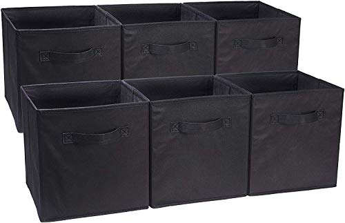 AmazonBasics Collapsible Fabric Storage Cubes Organizer with...