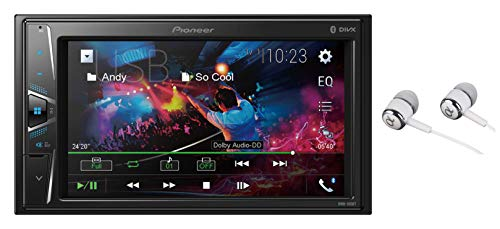 Pioneer 6.2' VGA Touchscreen WebLink Double DIN, Bluetooth USB MP3 Aux Input, in-Dash Siri Eyes Free & Google VR, Multi-Color Illumination Digital Media Receiver/Free Alphasonik Earbuds
