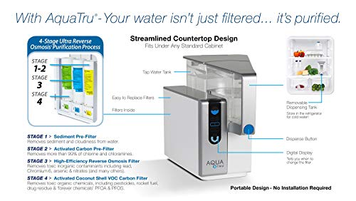 Product Image 9: AquaTru - Countertop Water Filtration Purification System with Perfect Minerals Drops - Exclusive 4-Stage Ultra Reverse Osmosis Technology (No Plumbing or Installation Required) | BPA Free
